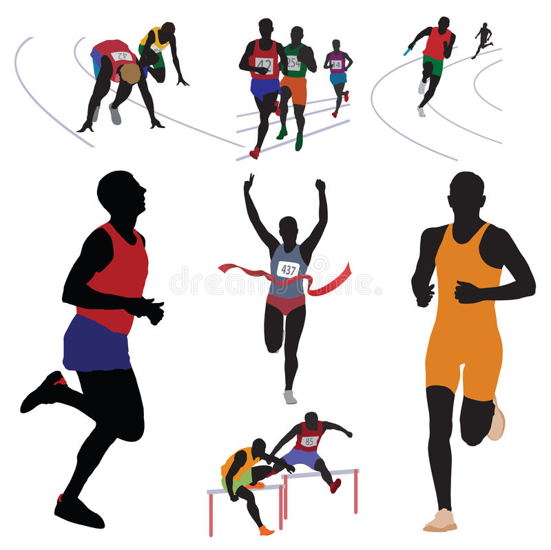 Download Runners stock vector. Illustration of people, event, group - 21523735