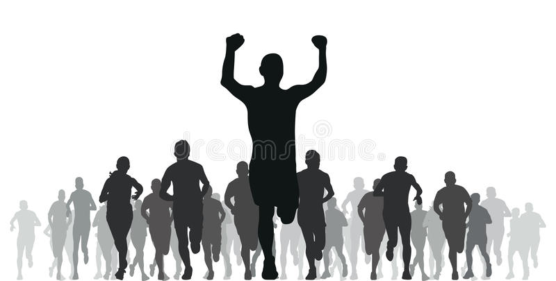 Download Runners stock illustration. Image of people, group, line - 22156137