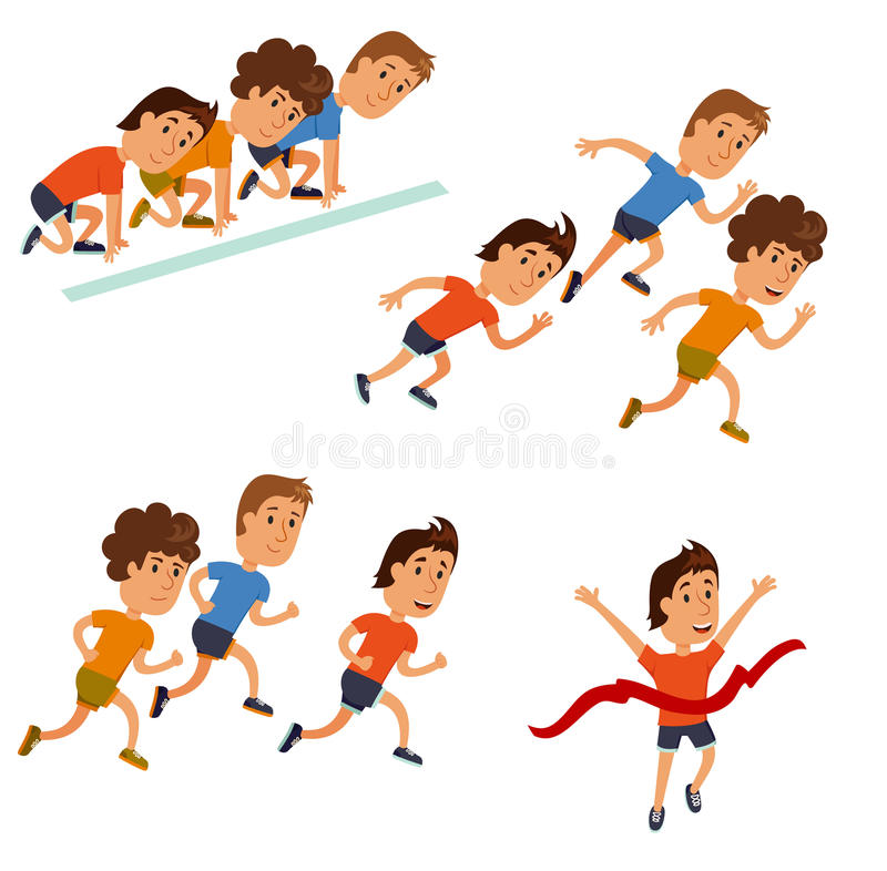 Cartoon Character Design Competition : Runners cartoon character stock vector illustration of