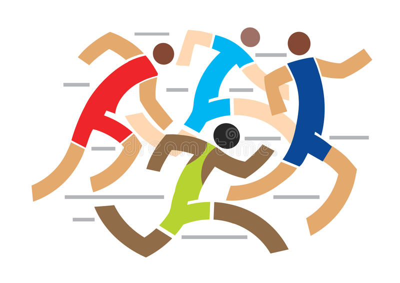 Runners competition. stock illustration