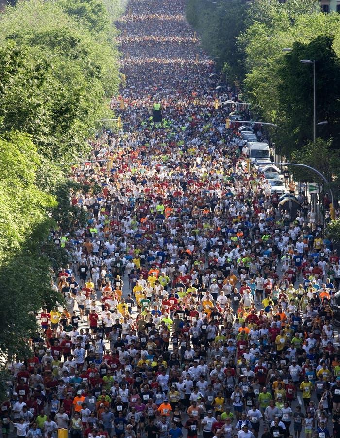 Download Runners On Cursa De El Corte Ingles Editorial Stock Image - Image of champion, jogger: 22052774