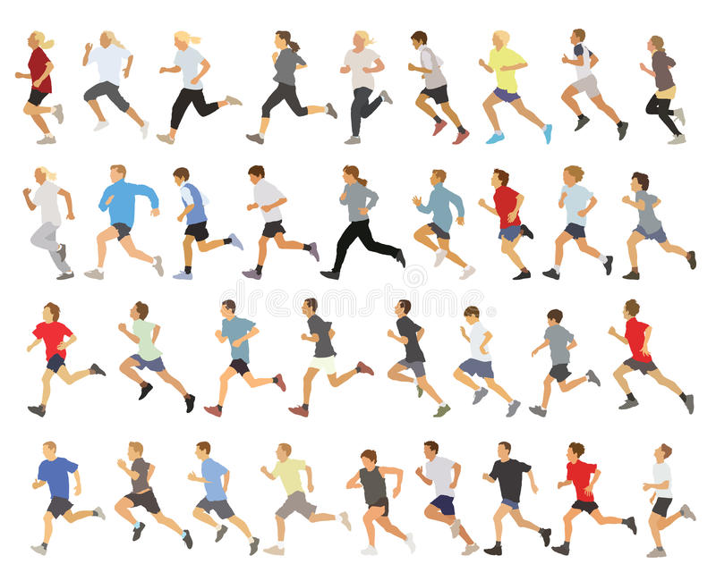 Runners vector illustration
