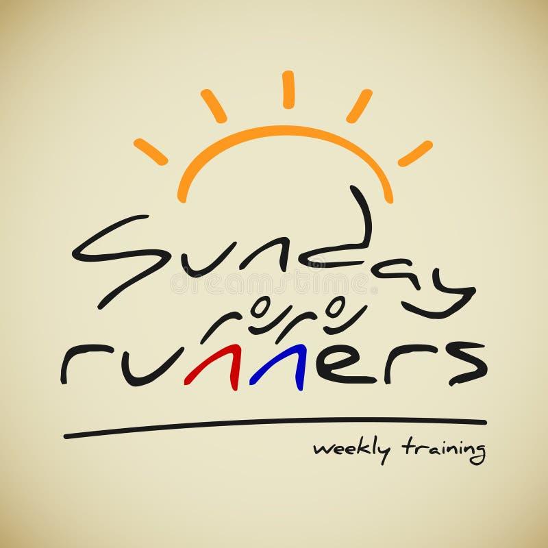 Runners logo stock illustration