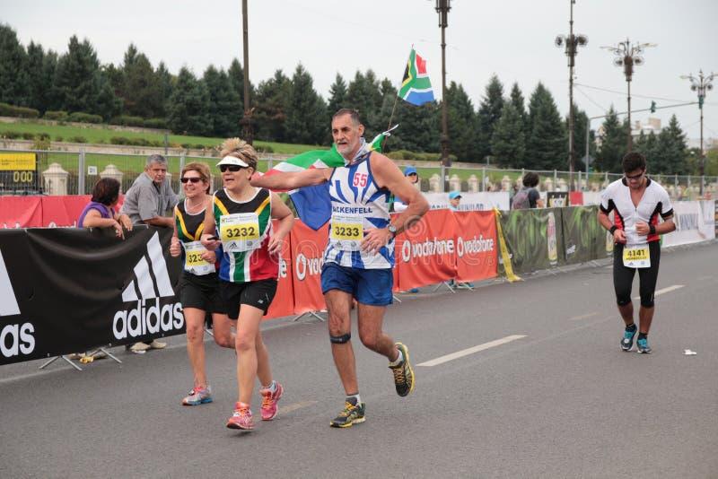 Runners at Marathon stock photography