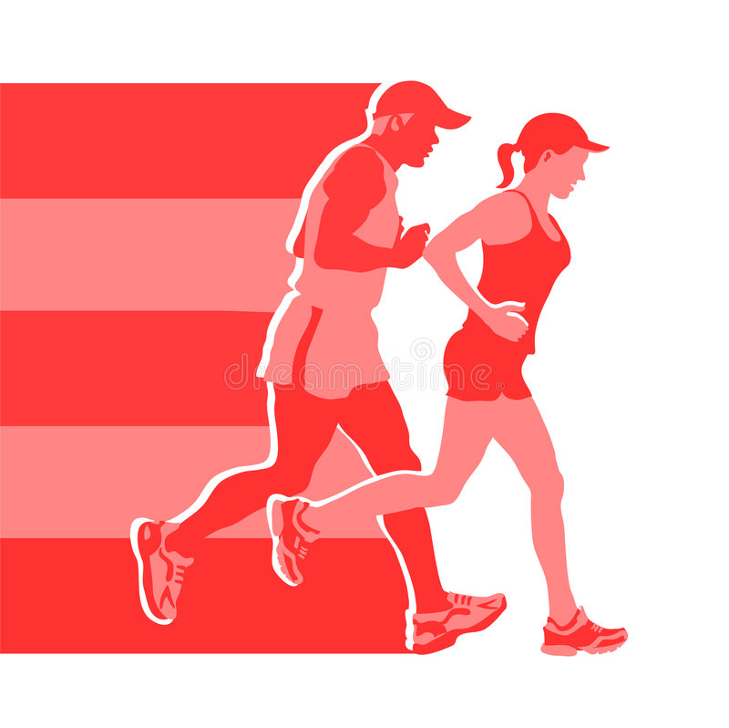 From runners to runners stock illustration