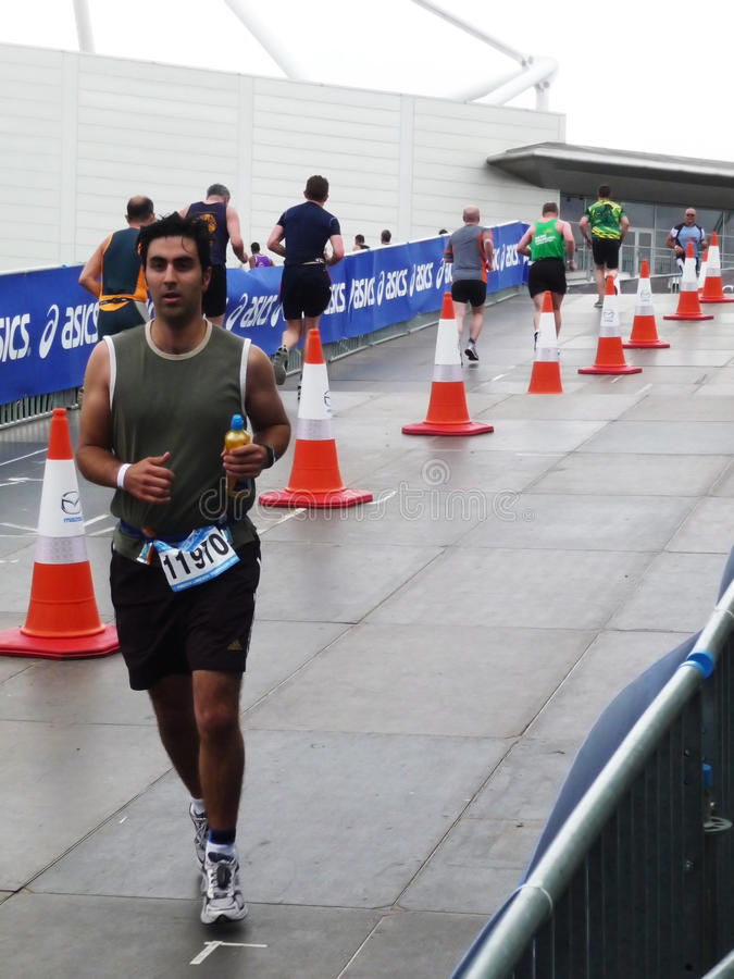 Runners On The Track At The Mazda London Triathlon Editorial Image