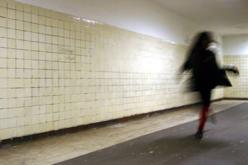 Runnign Frau stockfoto