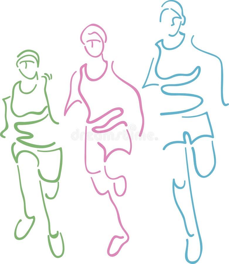 Running royalty free illustration
