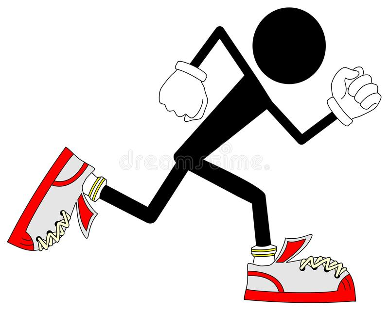 Download Running stock vector. Image of draw, young, thin, sport - 17224288