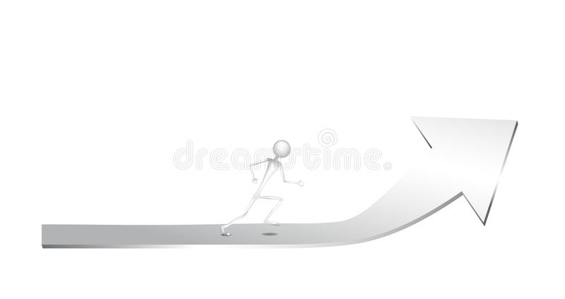 Download Running for achievement stock vector. Image of advertising - 11722866