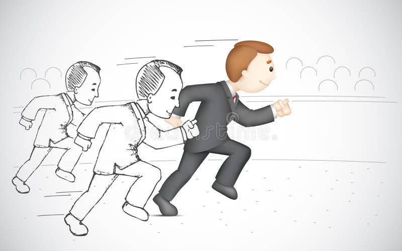 Running affärsman stock illustrationer