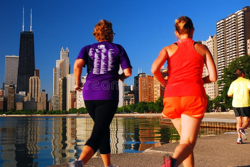 Running along the Lakeshore royalty free stock images