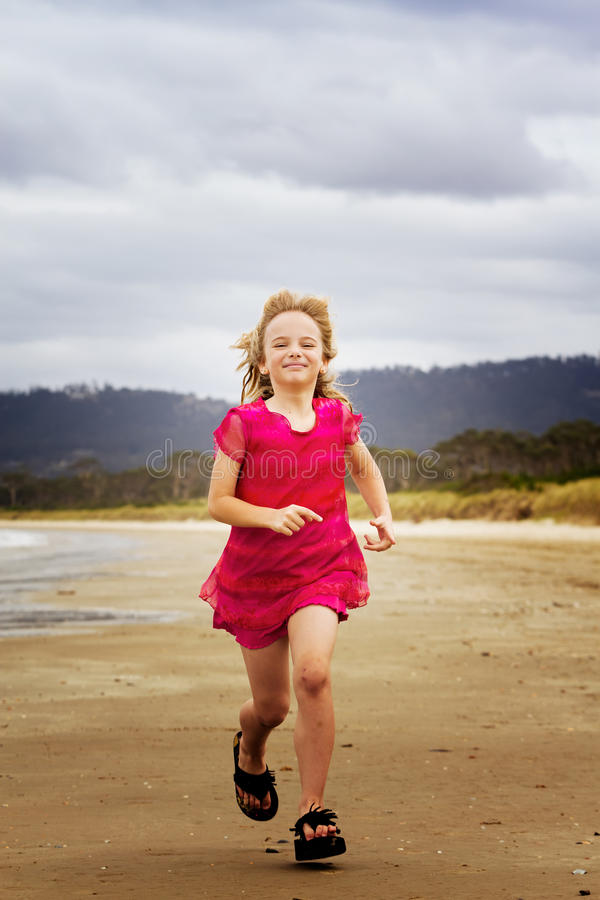 Download Running Along Shore Royalty Free Stock Image - Image: 18346666