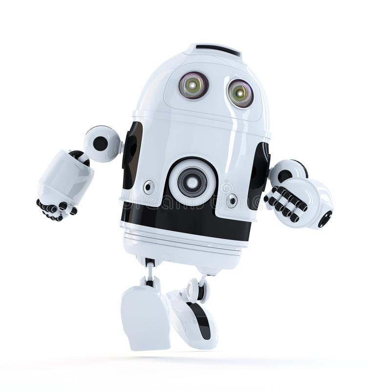 Running Android robot stock illustration