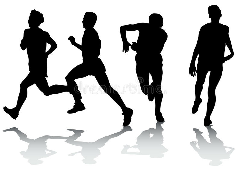 Download Running athletes stock illustration. Image of lifestyles - 12035597