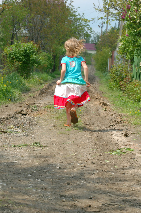 Free Running Away Royalty Free Stock Photography - 5062847