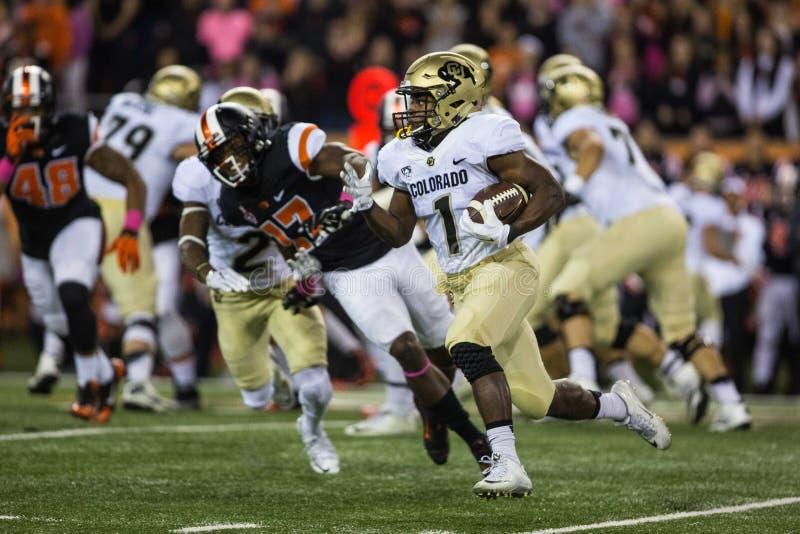 Running back Patrick Carr de Buffalo du Colorado photo stock