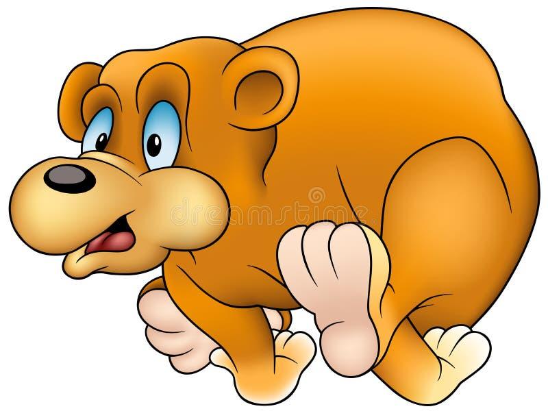 Running Bear. Colored cartoon illustration as vector vector illustration