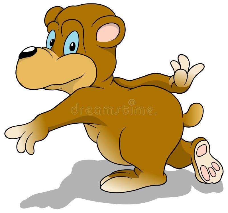 Running Bear stock illustration