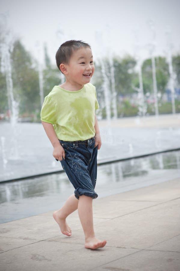 Running boy royalty free stock image
