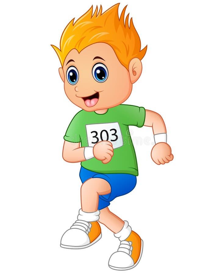 Running boy cartoon. Illustration of Running boy cartoon vector illustration