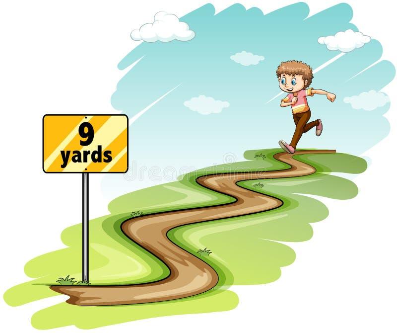 Running. Boy running the whole nine yards vector illustration