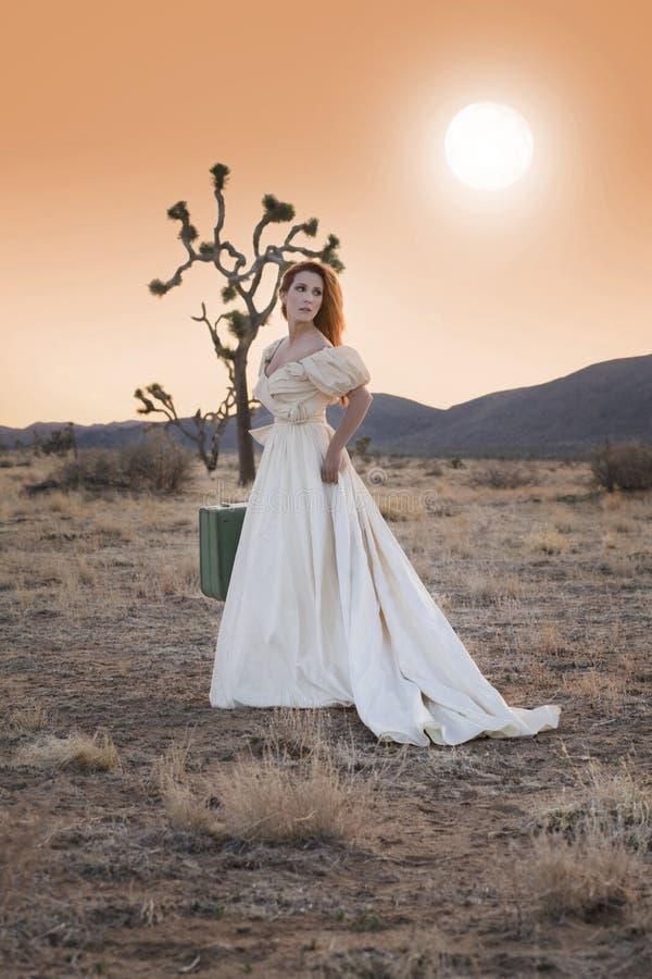 Running Bride stock photo