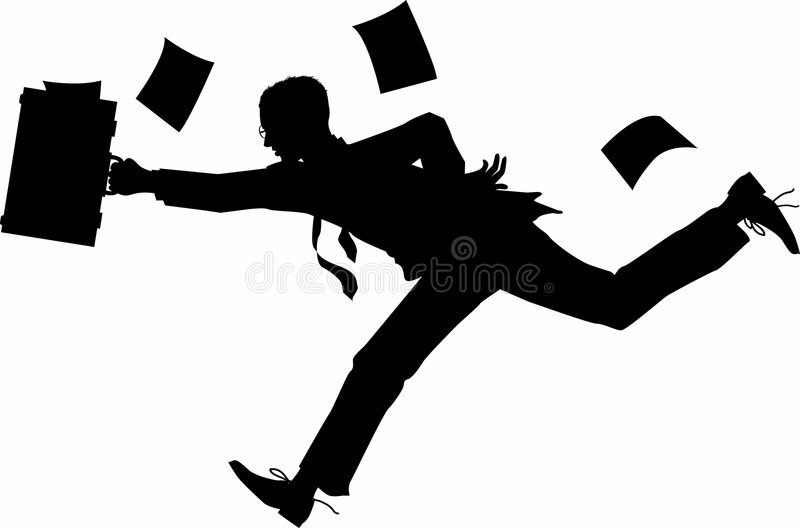 Running_businessman stock illustration