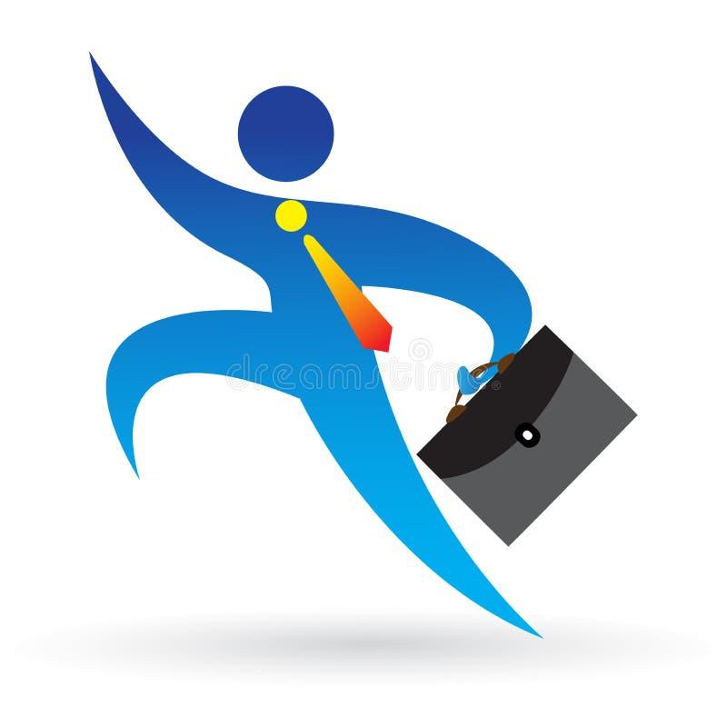 Running businessman. Illustration of running businessman design on white background royalty free illustration