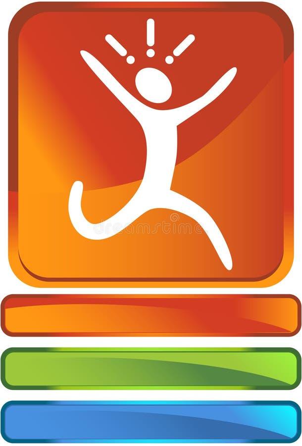 Running Button stock illustration