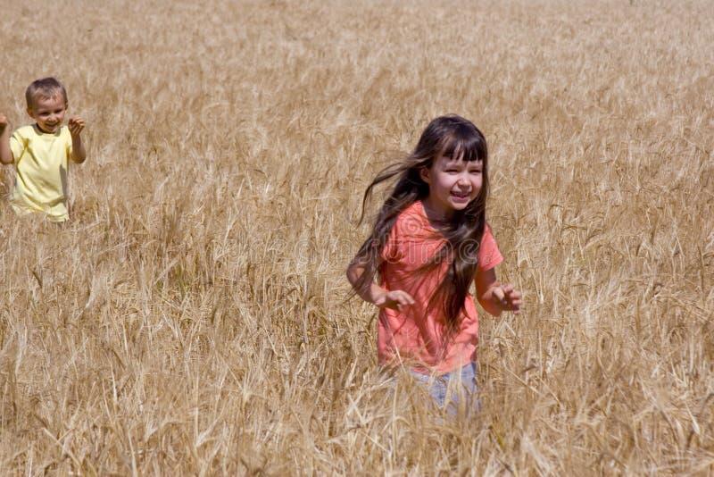 Running children stock photo