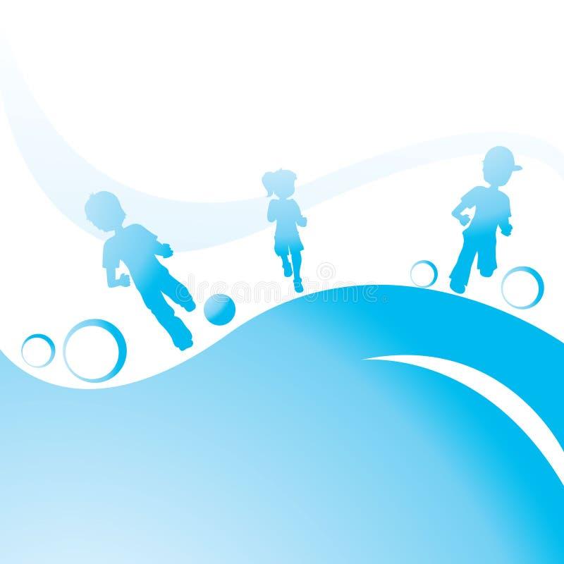 Download Running Children stock vector. Image of children, bubble - 14053061