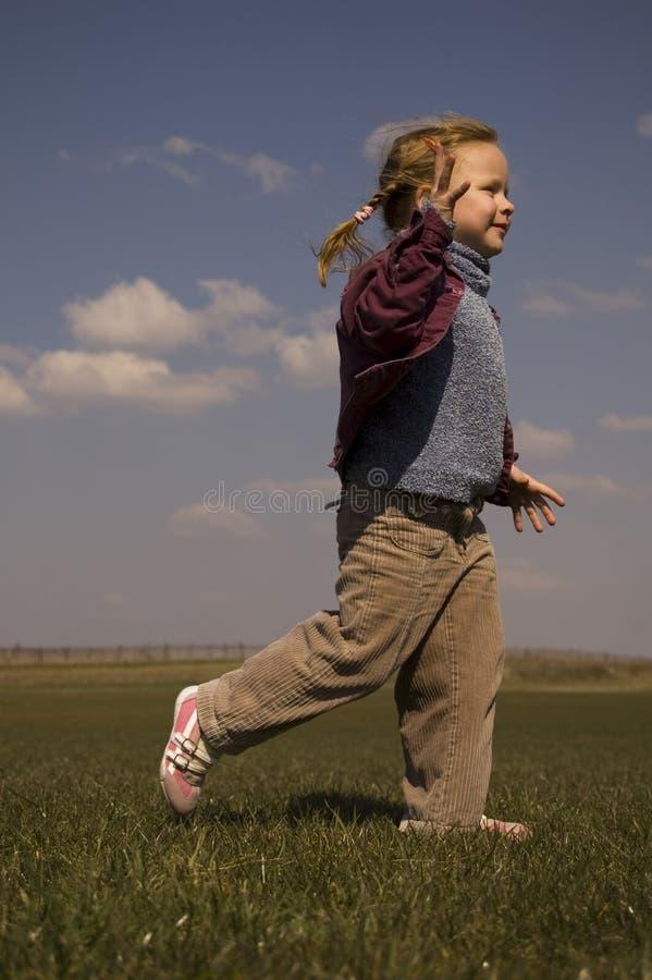 Running Children stock photography