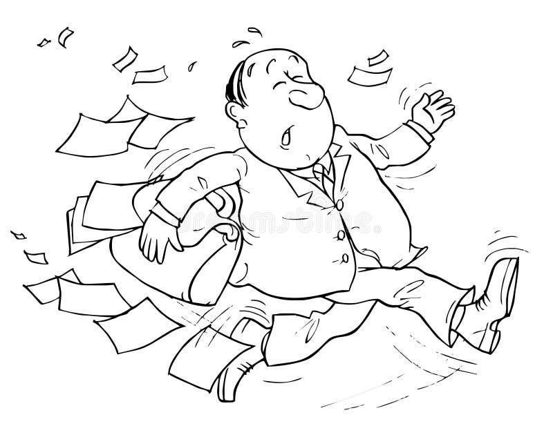 Running Clerk royalty free illustration