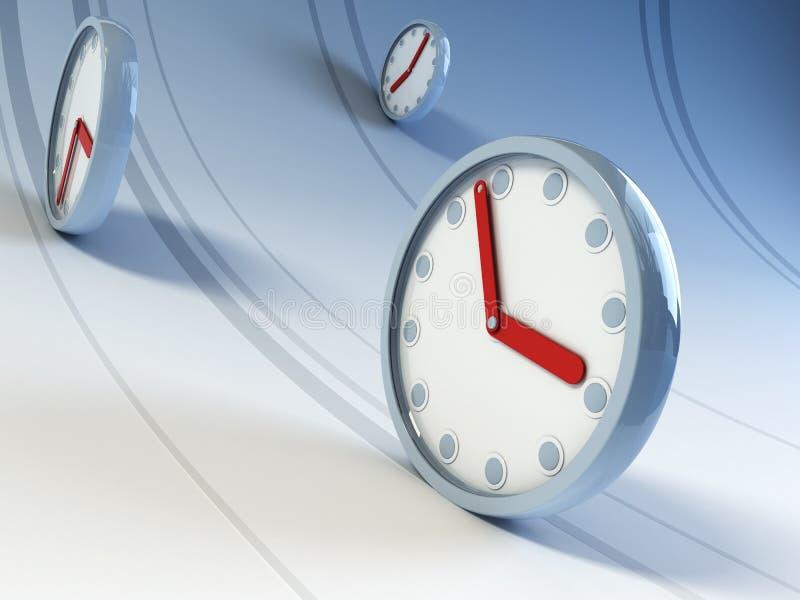 Running clocks stock illustration