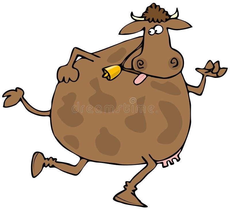 Running Cow stock illustration