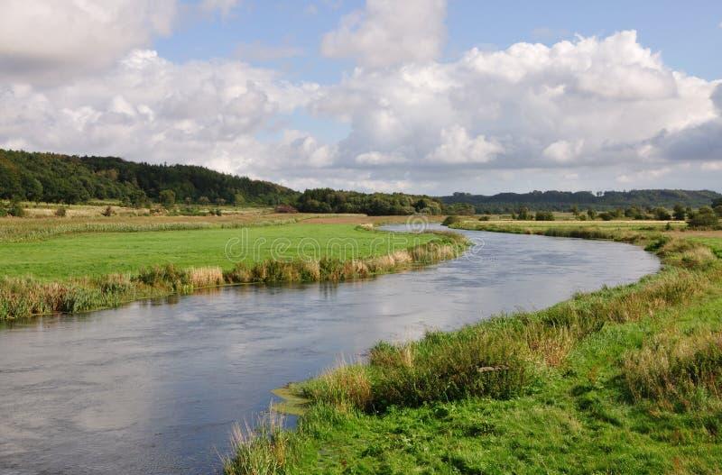 running dal för flod fotografering för bildbyråer