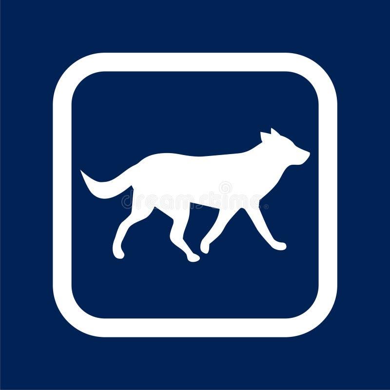 Running dog icon - Illustration stock illustration