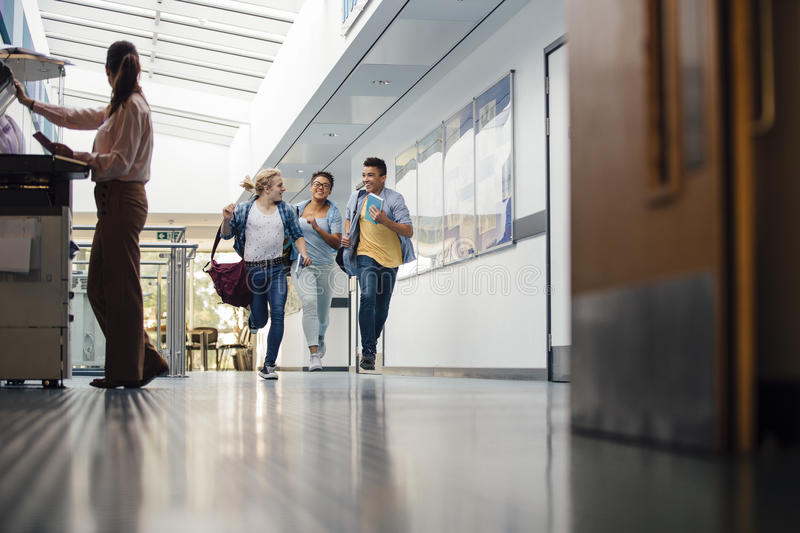 Running Down The Halls stock photography