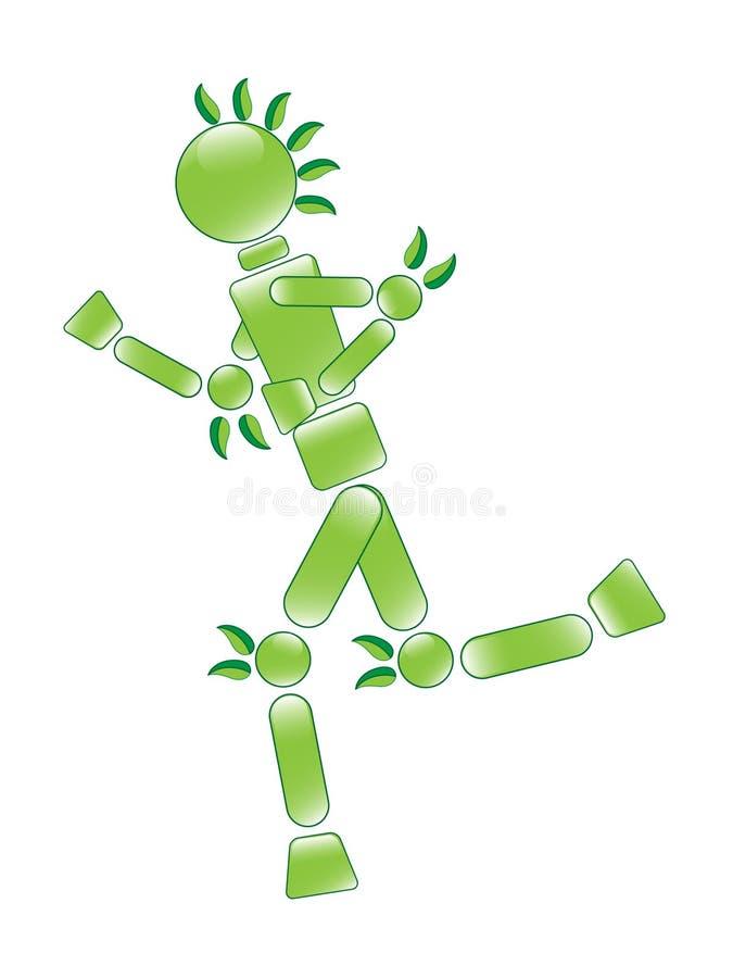 Running Eco Man Stock Image