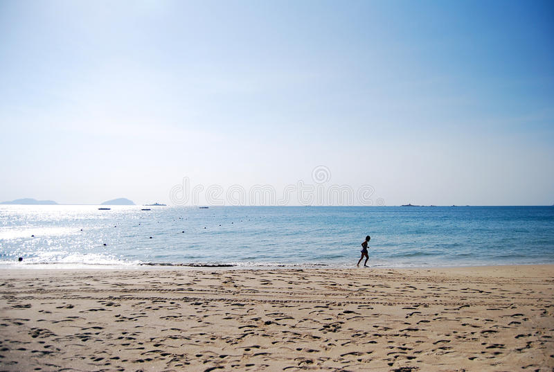 Download Running At The Edge Of Sea Stock Image - Image: 21582831