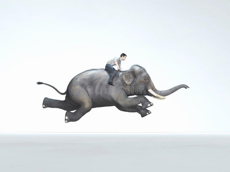 Running elephant stock illustration. Illustration of ...