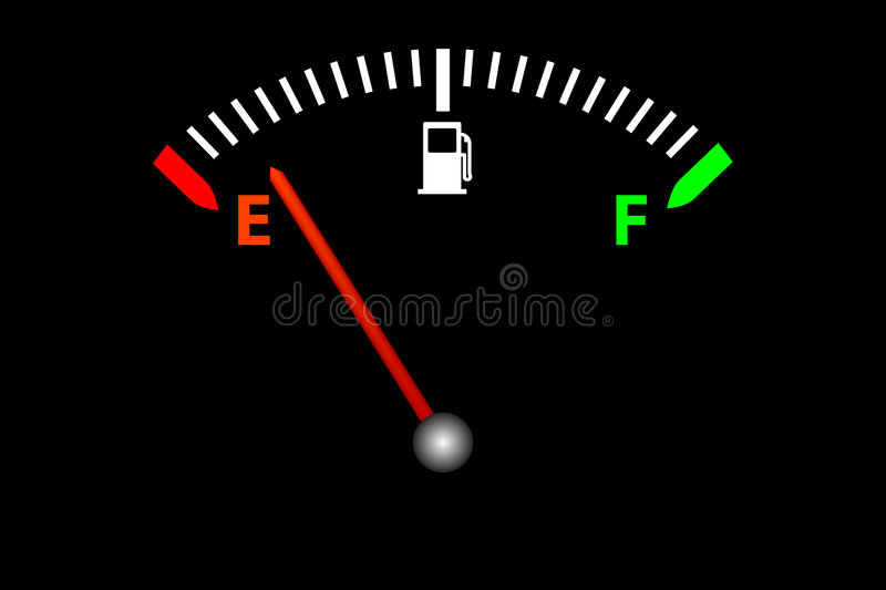 Running on empty stock photography
