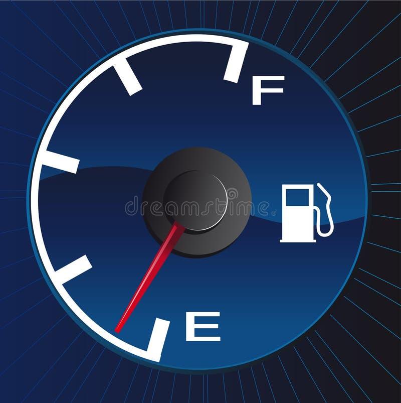 Running on empty. Abstract vector illustration of a gasmeter running on empty royalty free illustration