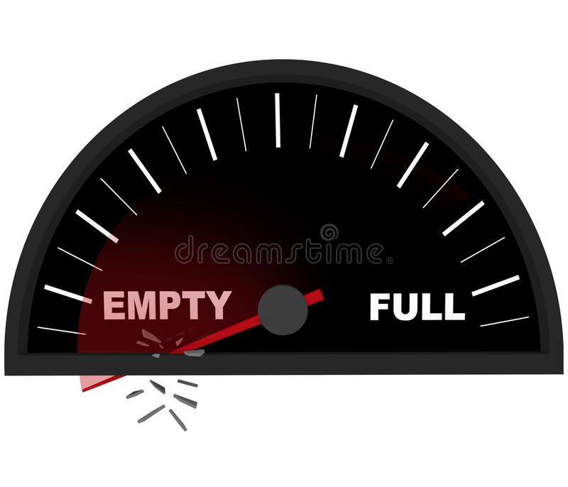 Download Running On Empty - Fuel Gauge Royalty Free Stock Photo - Image: 12249825