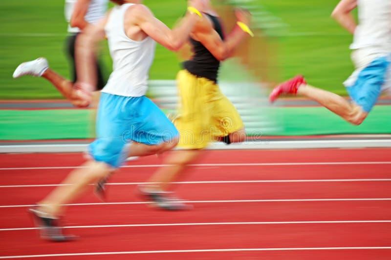 running för blurrörelserace royaltyfri bild