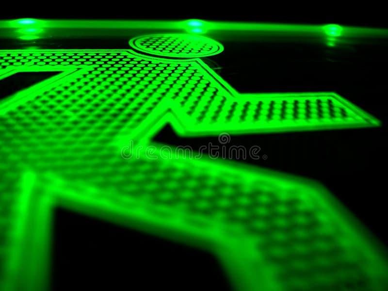 running för grön man 2 arkivbilder