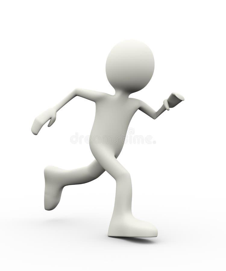 running för person 3d vektor illustrationer