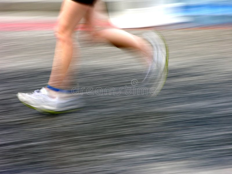 Running Feet royalty free stock image