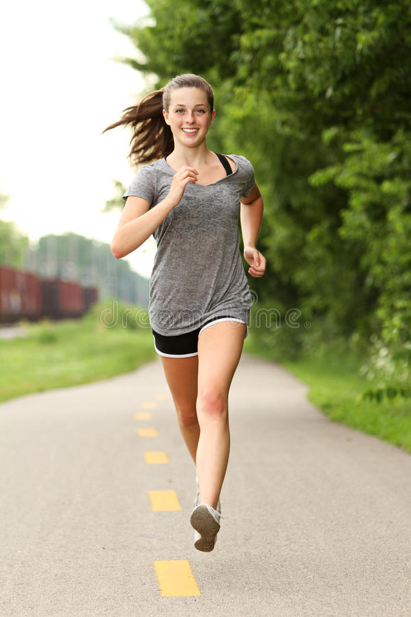 Running Female stock photography